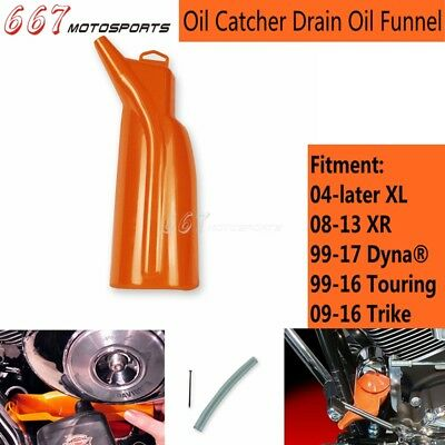 1Pc Motorcycle Oil Catcher Drain Oil Funnel For Harley 09-16 Trike 99-16 Touring