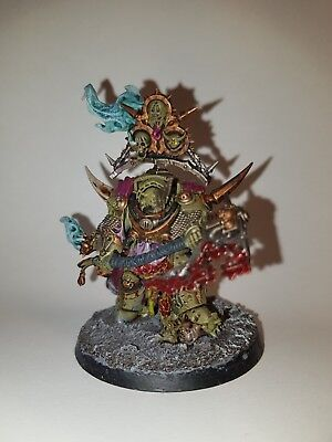 Warhammer 40k - Chaos Space Marines - Death Guard - Lord of Contagion - bemalt