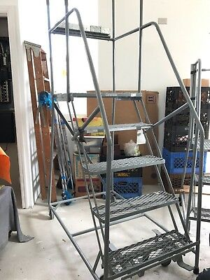 Cotterman Rolling Platform Ladder 4 Foot 2 Inch High (Model#8188T14)
