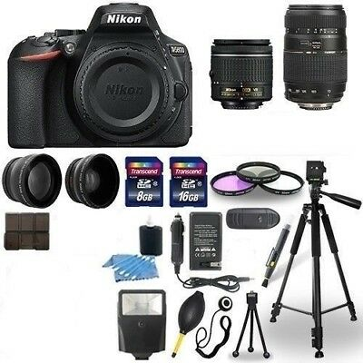 Nikon D5600 Digital Camera + 18-55mm VR + 70-300mm  Accessory Bundle