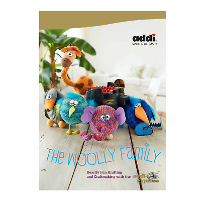The Woolly Family Knitting Pattern Book using the Addi Express Machine