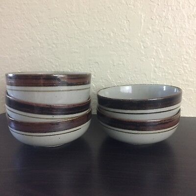 Lot of 5 Otagiri Sierra Stoneware Hand Crafted Ceral Coupe Bowls