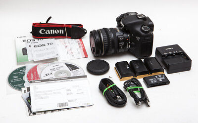 Canon EOS 7D 18.0MP Digital SLR Camera Kit w/ 28-135mm IS Lens & More! LOW USE