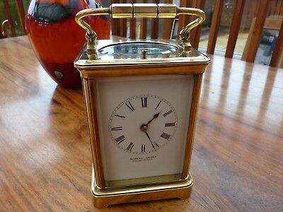 BRASS CARRIAGE CLOCK  Large