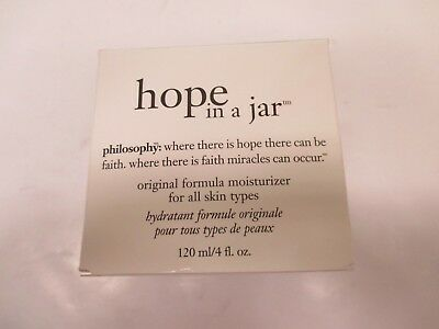 PHILOSOPHY HOPE IN A JAR ORIGINAL FORMULA MOISTURIZER - ALL SKIN - 4oz AA 11657