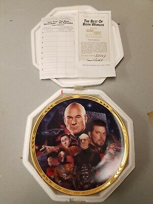 Star Trek TNG Hamilton Collection Plate The Best of Both Worlds Mint