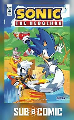 SONIC THE HEDGEHOG #4 COVER A HESSE (IDW 2018 1st Print) COMIC