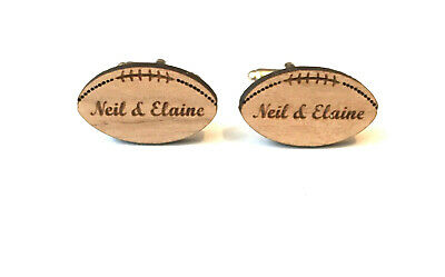 Personalised Mens Rugby Ball Wedding Occasion Cufflinks