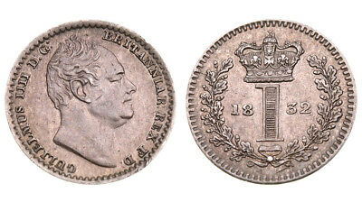 England. Wilhelm IV. 1 penny in 1832. Silver.