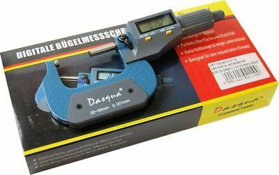 "Dasqua 25-50 mm / 1-2"" Digital Micrometer (Ref: 42102110) Lifetime Guarantee"