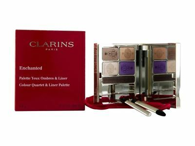 Clarins Enchanted Colour Quartet Eye Liner Palette 4.9g Purple/Brown Damaged Box