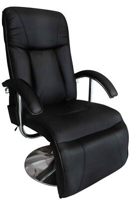 Black Faux Leather Massage Chair TV Gaming Recliner Facial Beauty Chair Relax