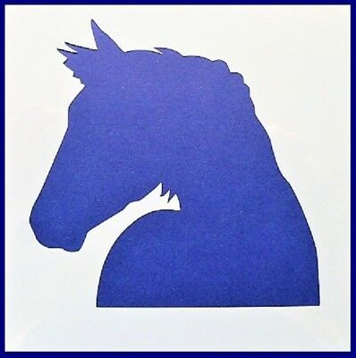 Flexible Stencil *HORSE HEAD SILHOUETTE* Small or Medium Card Making Crafts