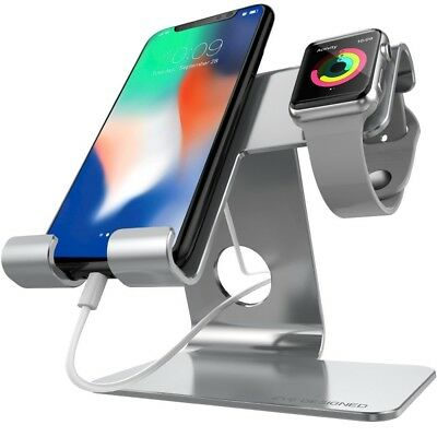ZVE Universal 2 in 1 Cell Phone Stand And Tablet Stand,Aluminium Apple Iwatch...