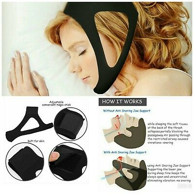 Adjustable Anti Snoring Chin Strap Sleep Apnea Solution Stop snore USA SHIPPING!