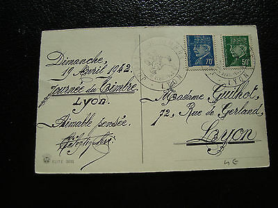 FRANCE - postcard 1st day 19/4/1942 (cy54) french