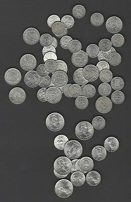 Wwii Pacific Silver Coin Hoard Of 66 Coins Au-Bu