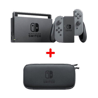 Nintendo Switch Console with Gray Joy-Con Game Wireless Controller - 32GB + Case