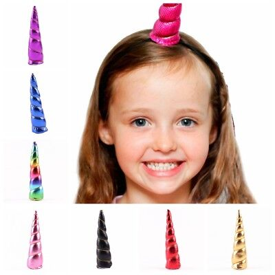 New Glitter Unicorn Horn Kids Headband Hair Band Party Cosplay Hair Accessory