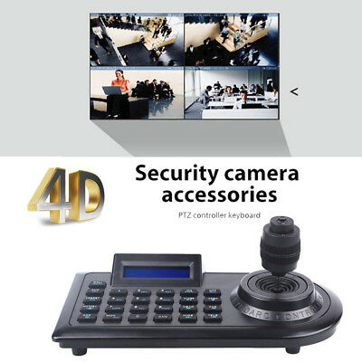 LCD 4D 4 Axis Keyboard Joystick Controllers for PTZ CCTV Surveillance Camera DVR