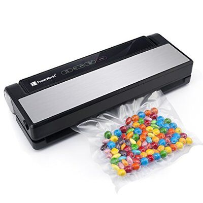 Vacuum Sealer, Fresh World 4 in 1 Automatic Stainless Steel Food Sealer with Tou