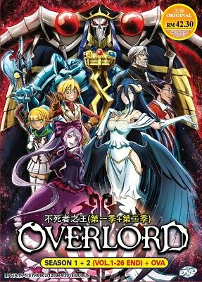 DVD Anime OVERLORD Season 1+2 Complete Series (1-26 End) Special Ed. English DUB