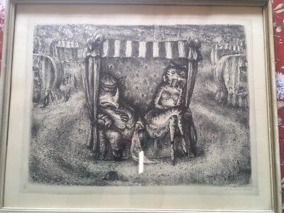 Andreas PAUL WEBER, Lithographie aus Nachlass,