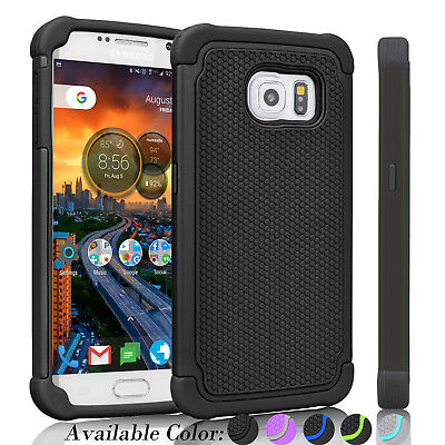 For Samsung Galaxy S7 / S7 Edge Hybrid Shockproof Rugged Rubber Hard Case Cover