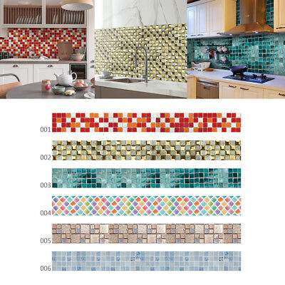 Bathroom Kitchen Removable Mosaic Tile Sticker Wall Paper Decal for Home Decor