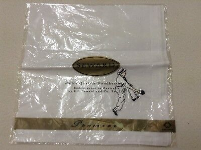 New Pure cotton Mens handkerchief white lawn bowls Premier SEWARD