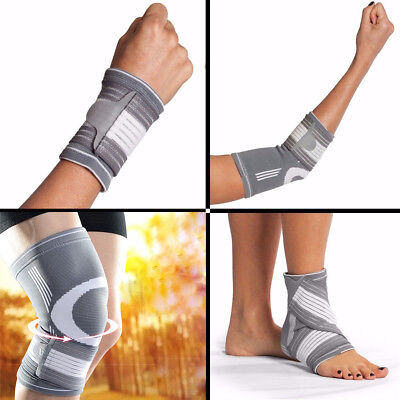 Support Gym Strap Elastic Bandage Wrist Elbow Ankle Knee Wrap Hand Brace USA