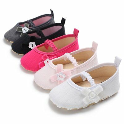 Newborn Baby Girl Soft Sole Cotton Crib Shoes Anti-slip Sneaker Prewalker 0-18M