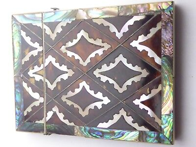 Mother of Pearl inlaid antique Calling card case
