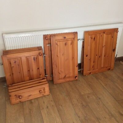 SOLID PINE KITCHEN cupboard doors and drawer fronts complete with ...