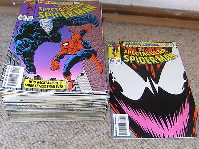 51 x Peter Parker THE SPECTACULAR SPIDER-MAN - Nr. 203 bis 254 -- US