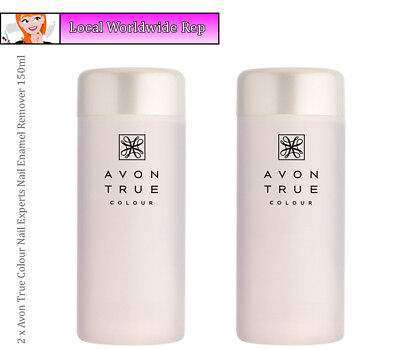 2 x Avon True Colour Experts Nail Enamel Remover Conditioning Acetone Free 150ml