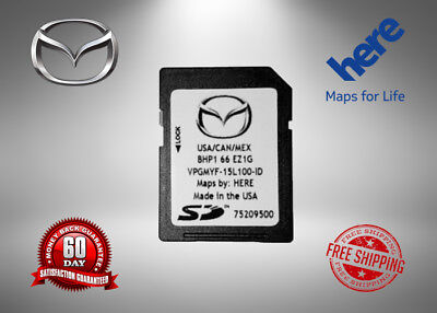Latest 2017/ 2018/2019 MAZDA Navigation SD Card BHP1 66 EZ1G Mazda 3 6 CX-3 CX-5
