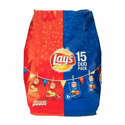 Lays Chips 15 Duo Pack 440g 8 x parika / 7 x Naturel Chips  (2,16 EUR pro 100g)