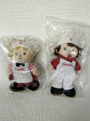 Vintage Campbell Soup Dolls Boy Girl - Adorable Chefs Toy Campbell's Advertising