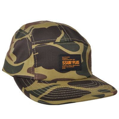7fcd74c78 SSUR PLUS BUCKLE Hat New York Camo 5 Panel Desert Urban Street Wear ...