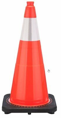 "28"" Orange Traffic Safety Cones with One Reflective Band (Pack of 8)"