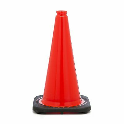 "18"" Orange Traffic Safety Cones with Black Base (Pack of 12)"
