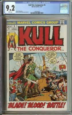 Kull The Conqueror #5 Cgc 9.2 White Pages