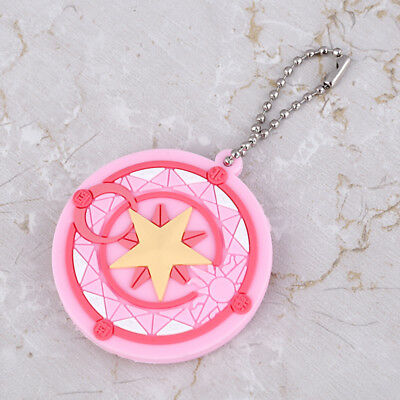 1pc Anime Card Captor Sakura Key Cover Cap Keychain Key Case Unisex Cartoon