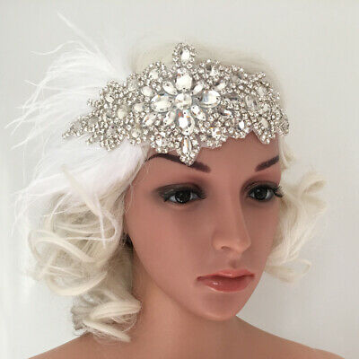 Vintage 1920s Flapper Headband Roaring 20s Great Gatsby Headpiece With Lady