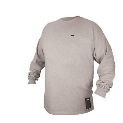 Black Stallion FTL6-GRY Gray FR Cotton Long Sleeve T-Shirt, Large