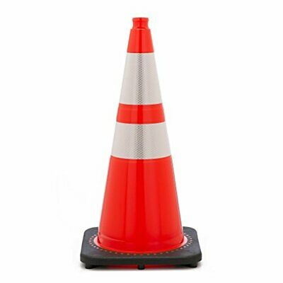 "28"" Orange Traffic Cones w/ 4"" & 6"" 3M Reflective Collars (Pack of 16)"