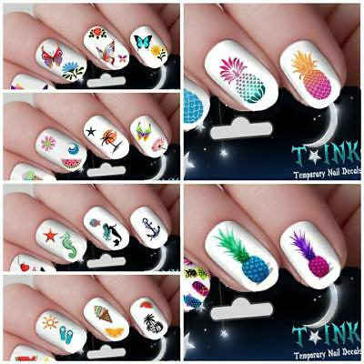 Nail Art Water Stickers Transfers Decals Sunflowers Pineapple Nautical Summer