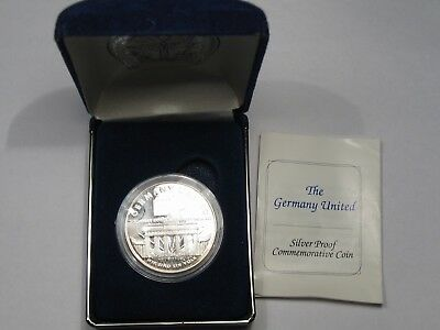 """""""Germany United"""" Silver Proof Commemorative Coin (w/ Box). 1 Troy oz .999 Fine."""