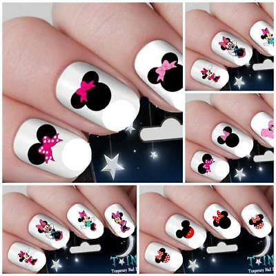 Mickey Mouse And Minnie Mouse Nail Art Water Decals 3 Designs Nail
